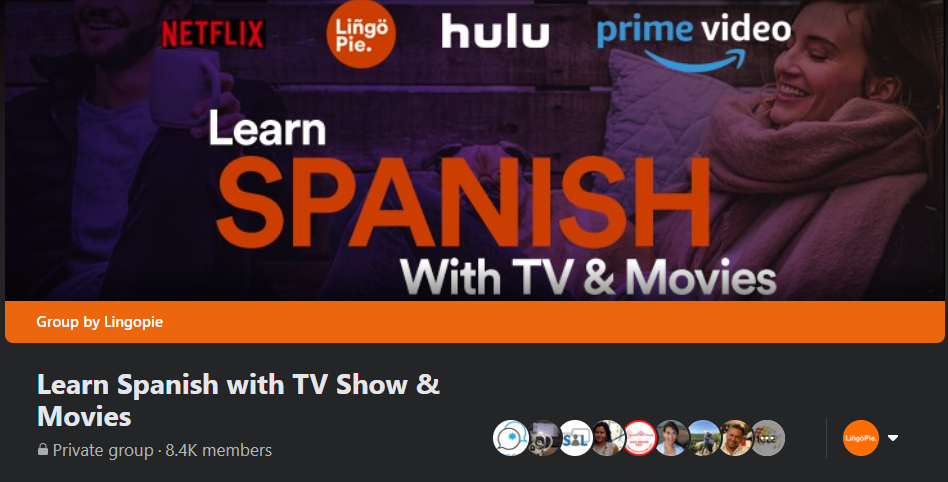 Screenshot from 'Learn Spanish With TV & Movies' Facebook Group