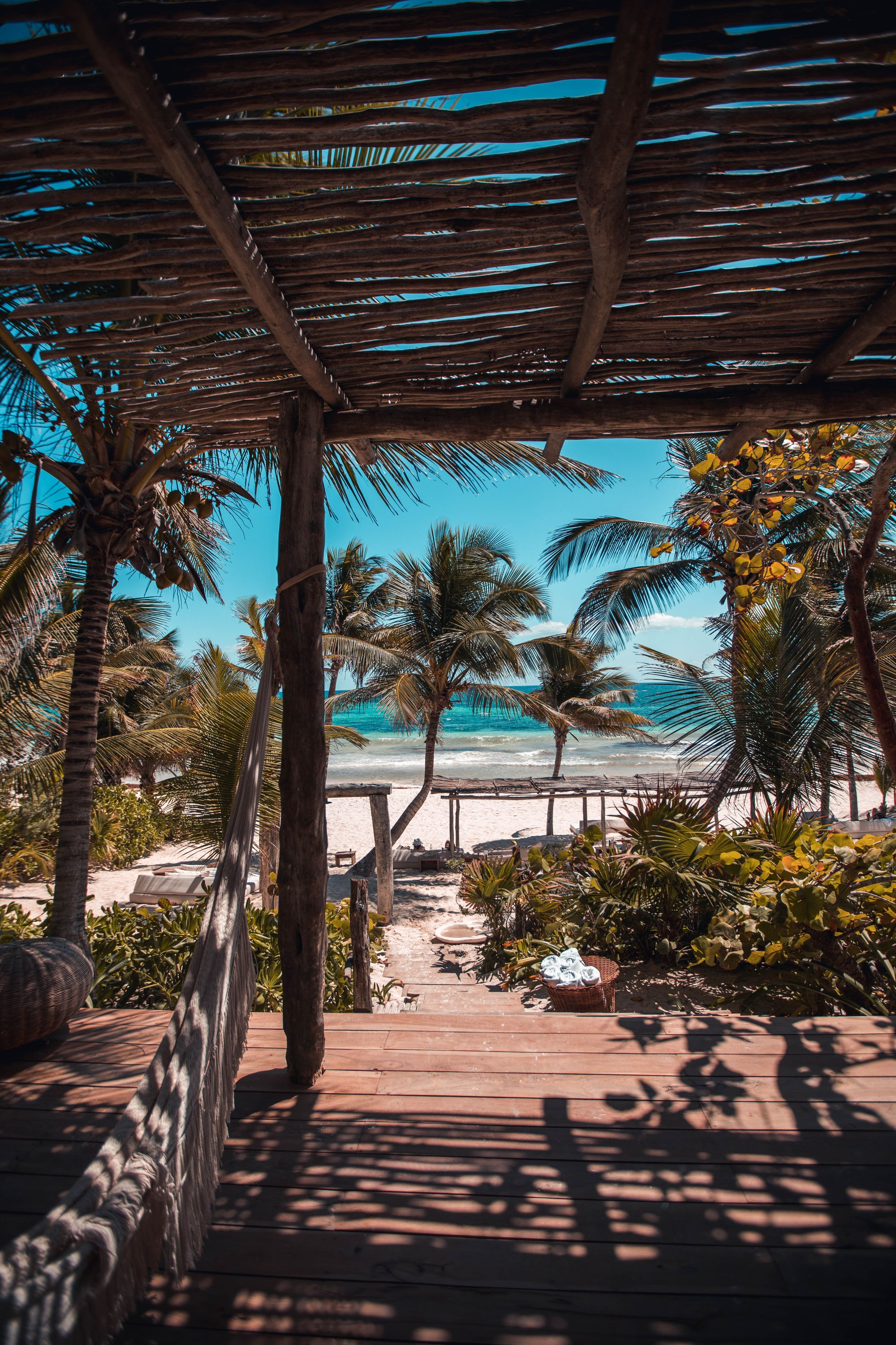 Tulum beach, where you can learn Spanish abroad