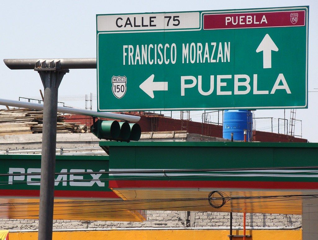 Road to Puebla from Mexico City