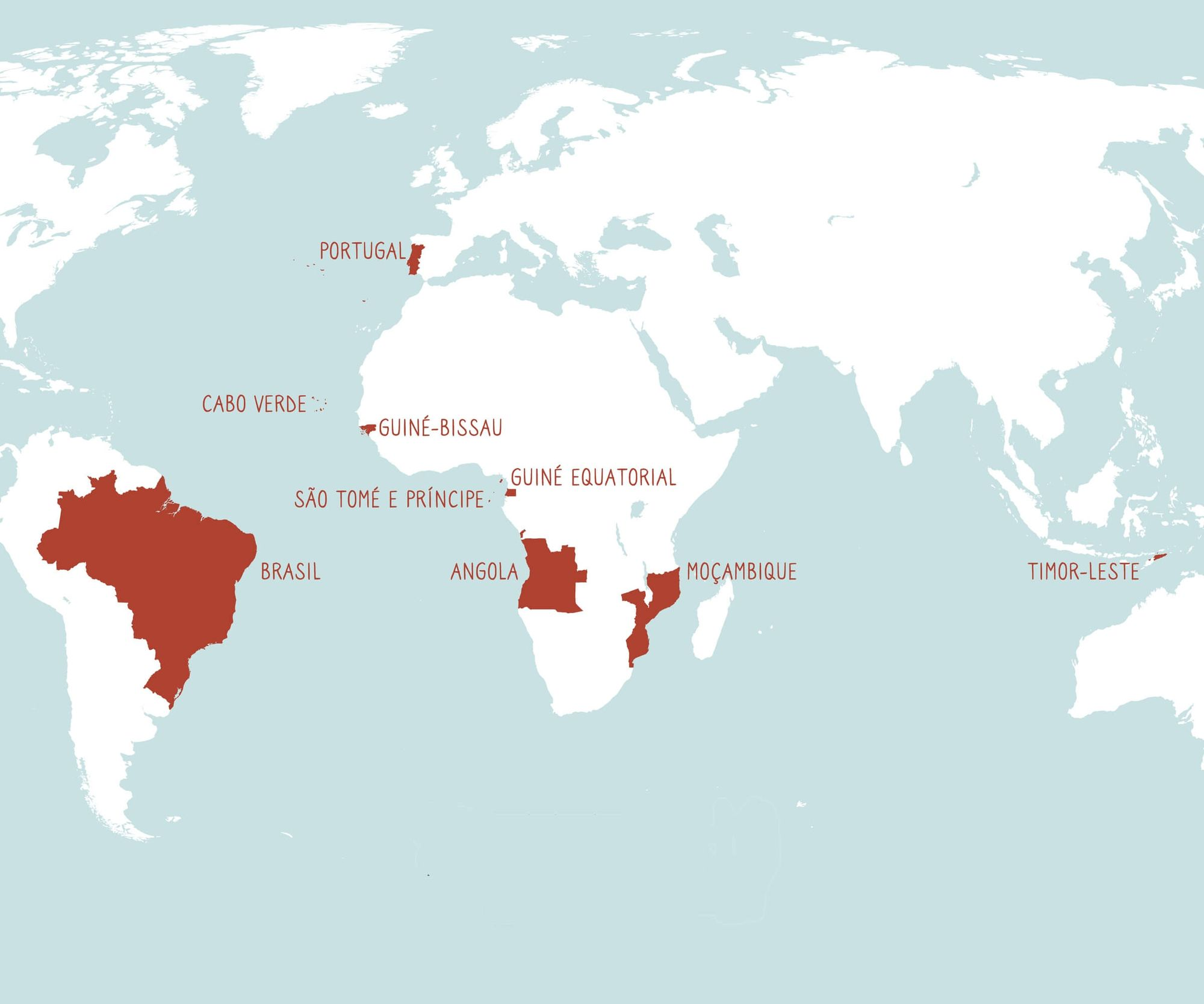 map of Portuguese speaking countries