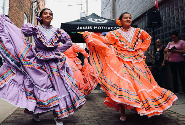 Traditional Hispanic dancing on National Hispanic Heritage Month